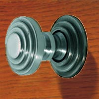 HH4350AB  Deco Brass Knob in 'Aged Brass 'finish.